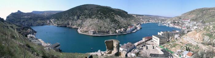 Панорама балаклавской бухты