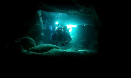 Дайвинг в Севастополе. Пещера в Голубой бухте уже на первом погружении ФОТО 2