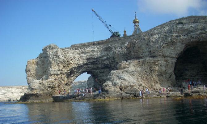 Тарханкут - арка Большого Атлеша и пещера Али-Баба