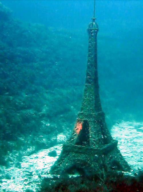 Тарханкут - первый в Советском Союзе подводный музей - Эйфелева башня