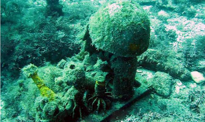 Тарханкут - первый в Советском Союзе подводный музей - эхо войны