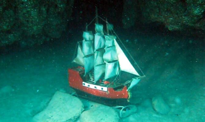 Тарханкут - первый в Советском Союзе подводный музей - парусник