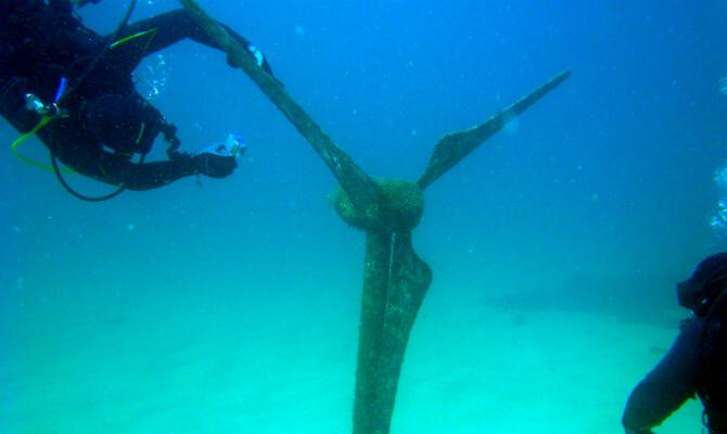 Тарханкут - первый в Советском Союзе подводный музей - вентилятор