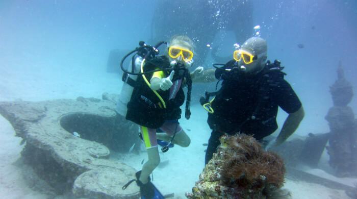 Пробное погружение (test dive) с аквалангом в Крыму