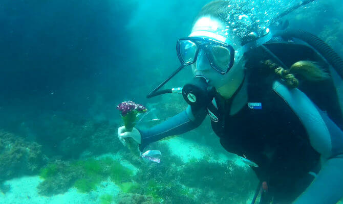 Поздравление с Днем Рождения под водой_2