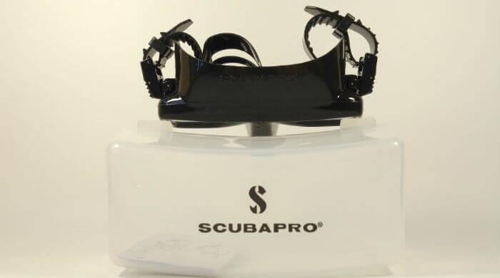 Маска Scubapro Frameless черная - вид сверху