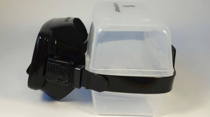 Маска Scubapro Frameless черная - вид сбоку