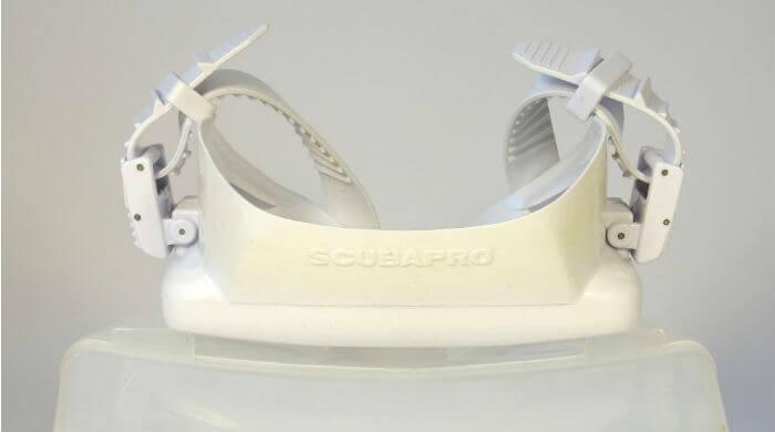 Маска Scubapro Frameless белая- вид сверху