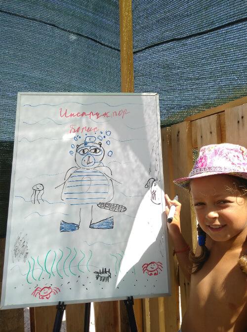 Детский рисунок Бориса Репина - инструктора NDL 3-го ранга. Фото